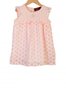 Aigner Kids festliches Kleid rose Punkte