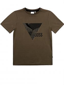 Hugo BOSS T-Shirt Jungen khaki gold