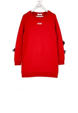 MSGM Kids Sweatkleid mini rot