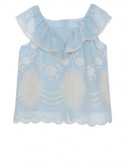 Patachou Top, Bluse hellblau