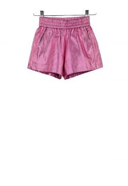 Monnalisa Shorts metallic pink