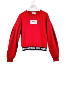 MSGM Kids Cropped Sweatshirt rot